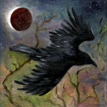 Raven at Night, by F.T. McKinstry