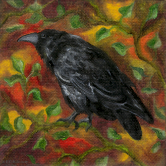 Raven in Autumn, by F.T. McKinstry