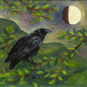 Spring Moon Raven, by F.T. McKinstry