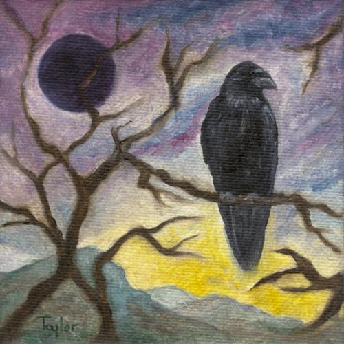 Winter Moon Raven, by F.T. McKinstry