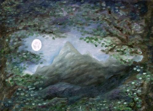 Lone Mountain Moon